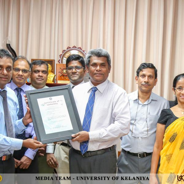 Department of Industrial Management awarded ISO 9001:2015 Certificate