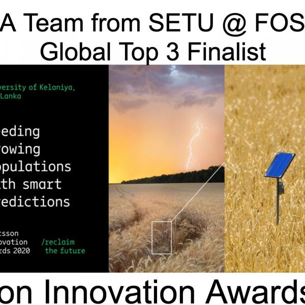 GLOBAL TOP 3 FINALIST - ERICSSON INNOVATION AWARDS 2020