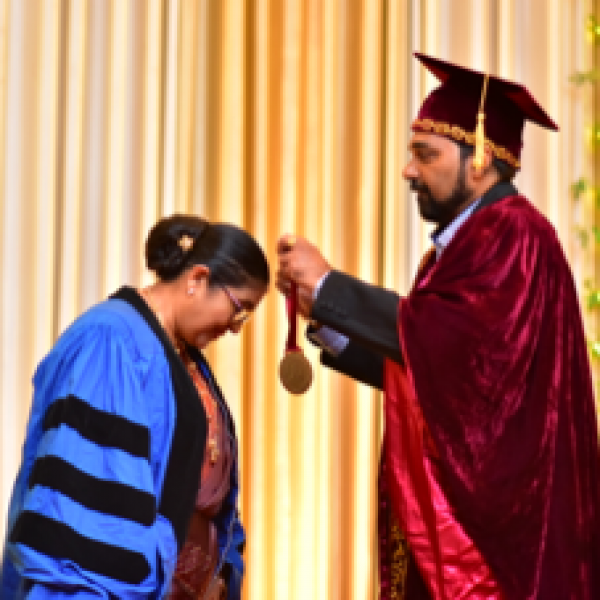 Prof. Priyani Paranagama being inducted as the 82nd President of the Institute of Chemistry Ceylon