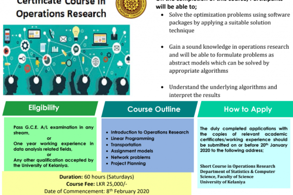 Certificate Course in Operations Research